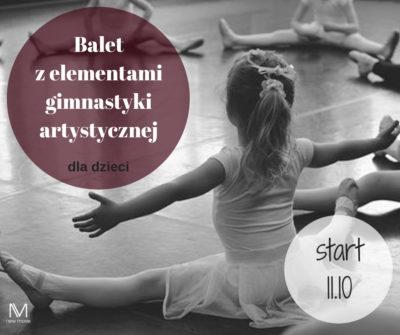 Balet zelementami gimnastyki artystycznej dla dzieci