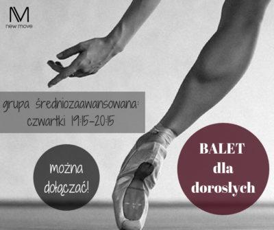 Kurs – balet dla dorosłych poziom średniozaawansowany