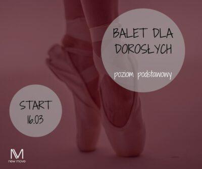 Balet dla dorosłych – poziom podstawowy kontynuacja