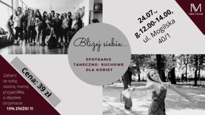 Bliżej siebie vol. 2 – warsztaty taneczno-ruchowe dla kobiet
